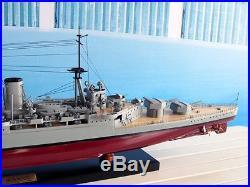 HMS HOOD Battle Ship 40 Handmade Wooden War Ship Model NEW