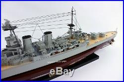 HMS Hood British Battleship Model 40 Handcrafted Wooden Model NEW