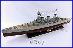 HMS Hood Handcrafted War Ship Display Model 39