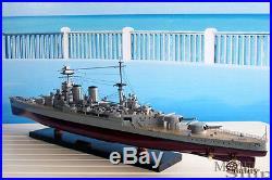 HMS Hood Handcrafted War Ship Display Model NEW