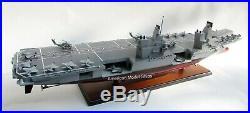HMS Queen Elizabeth Aircraf Battleship Model 39 Handcrafted Wooden Model NEW