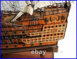 HMS Sovereign of the Seas 1637 Wooden Tall Ship Model 29 Fully Built Warship