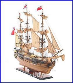 HMS Surprise Tall Ship Model 37 Master Commander with Floor Display Case with Legs
