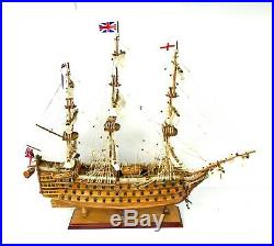 HMS Victory Admiral Nelson Flagship 30 Handmade Wooden Ship Model
