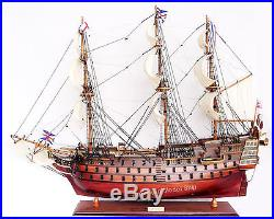 HMS Victory Admiral Nelson's Tall Ship 27 -Built Wooden Model New