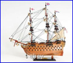HMS Victory Lord Nelson's Flagship Wooden Scale Model Tall Ship 21 Sailboat New