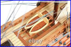 HMS Victory Lord Nelsons Flagship Wood Model Tall Ship 21 with Floor Display Case