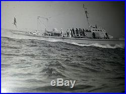 HUGE original photograph sub chaser PC536 Peterson Ship Building ESTATE 1942