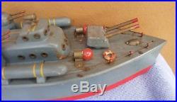 Hand Made Vintage U. S. Navy PT Boat Large Wooden Model Motorized