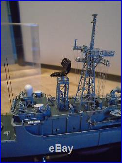 Handbuilt Model of the USS Kauffman a Guided Missle Frigate by Maritime Replicas