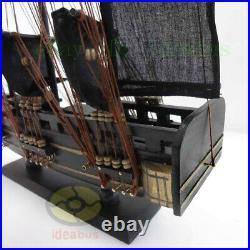 Handmade WOOD MODEL(19length) PIRATE SHIP Sailing Ship Sailer Nautical decor