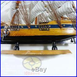 Handmade WOOD MODEL (23.6 length)Sailing Boat Tall Ship Sailer Nautical decor
