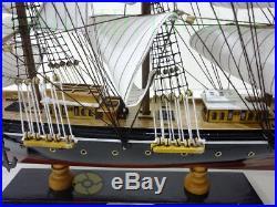Handmade WOOD MODEL (24.4Length) Sailing Boat Tall Ship Sailer Nautical decor