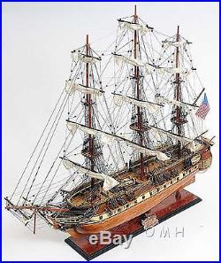 Handmade Wooden Model Ship USS Constitution New
