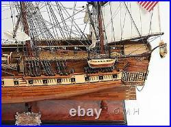 Handmade Wooden Model Ship USS Constitution New Fully Assembled