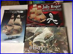 Huge Lot Of Ship Model Kits Pirate Warship Revell Heller Viking Battleship Boats