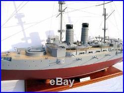 IJN MIKASA WWI Pre-dreadnought Battleship 36 Wood Model Boat Maritime Decor