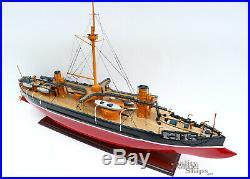 Italian Caio Duilio 1888 Handcrafted War Ship Display Model 36 NEW