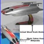 James Bond 007 Underwater Tow Sled Wood Model Large