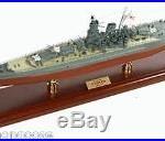 Japanese Battleship Yamato Desk Top Display 1/350 War Ship WWII Navy Boat Model