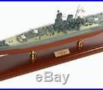 Japanese Navy Battleship Yamato MBBJYT WWII Wood Model Ship Assembled