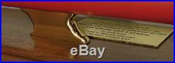 LARGE Vintage 1981 Newport News Shipbuilding Wood Submarine Ship Model Award