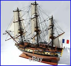 La Fayette Hermione Tall Ship Model 29 Handcrafted Wooden Model NEW