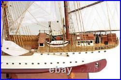 Large 36 US Coast Guard Eagle SHIP MODEL Wood Replica Assembled Nautical Decor