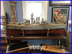 Large Model, USS Texas (BB-35) Trench Art