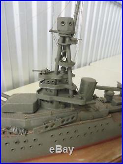 Large Vintage World War II Wooden Ship Model
