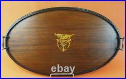 Lg 26½ x 16 1915 US NAVY U. S. NA. Annapolis MD WOOD SERVING TRAY Inlay Emblem