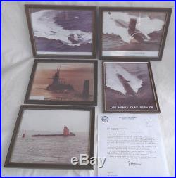 Lot USS Nuclear-Powered Missile Submarines US NAVY Color Photo Framed Pictures