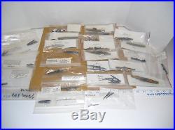 Lot of 44 Assorted WWII Metal Miniature Waterline American & Japanese War Ships
