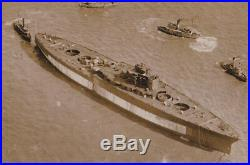 Lot of Five (5) LARGE WWI WW1 photos BB-46 USS Maryland Launch 3/20/1920