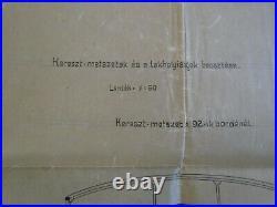 MAHART HUNGARY Österreich AUSTRIA GERMANY REGENSBURG MARINE SHIP PLAN 1898