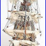 Model Ship Reproduction San Felipe Boats Sailing Small Exotic Wood Wooden