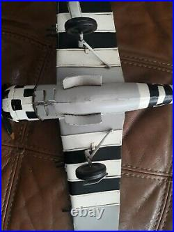 MX World War 2 Plane Striped Metal Model