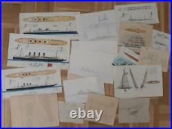 Marine Ships Studie Study Full Plans / Fotos Very Rare