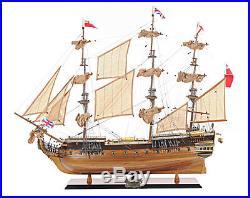 Medium HMS Surprise Tall Ship Wooden Model 27.5 As Seen In Master & Commander