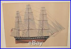 Melbourne Smith The Constitution Frigate Ship Of The American Navy Print