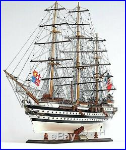 Model Ship Amerigo Vespucci Hand Crafted Wood Fully Assembled