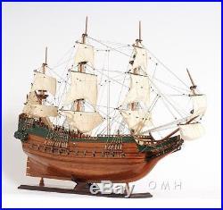 Model Ship Batavia Boats Sailing Linen Wood Base Wooden Western Red Cedar