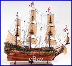 Model Ship Friesland Boats Sailing Medium Linen Metal Wood Base Wooden We