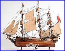 Model Ship Hms Surprise Boats Sailing Wooden Exotic Wood New Om-247