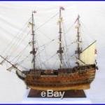 Model Ship Hms Victory XL Brass Chrome Rosewood Teak Mahogany New Plank-o