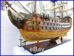 Model Ship Hms Victory XL Chrome Brass Mahogany Rosewood Teak New Plank-o