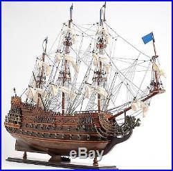 Model Ship Soleil Royal Medium Brass Mahogany Rosewood Nameplate Western