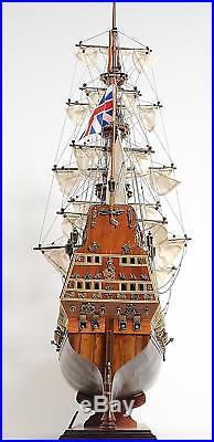 Model Ship Sovereign Of The Seas Boats Sailing Linen Metal Wood Base Wood