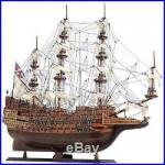 Model Ship Sovereign Of The Seas Boats Sailing Medium Linen Metal Wood Ba