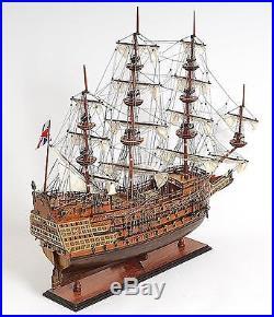 Model Ship Sovereign Of The Seas Boats Sailing Wood Base 5% Linen 100% We
